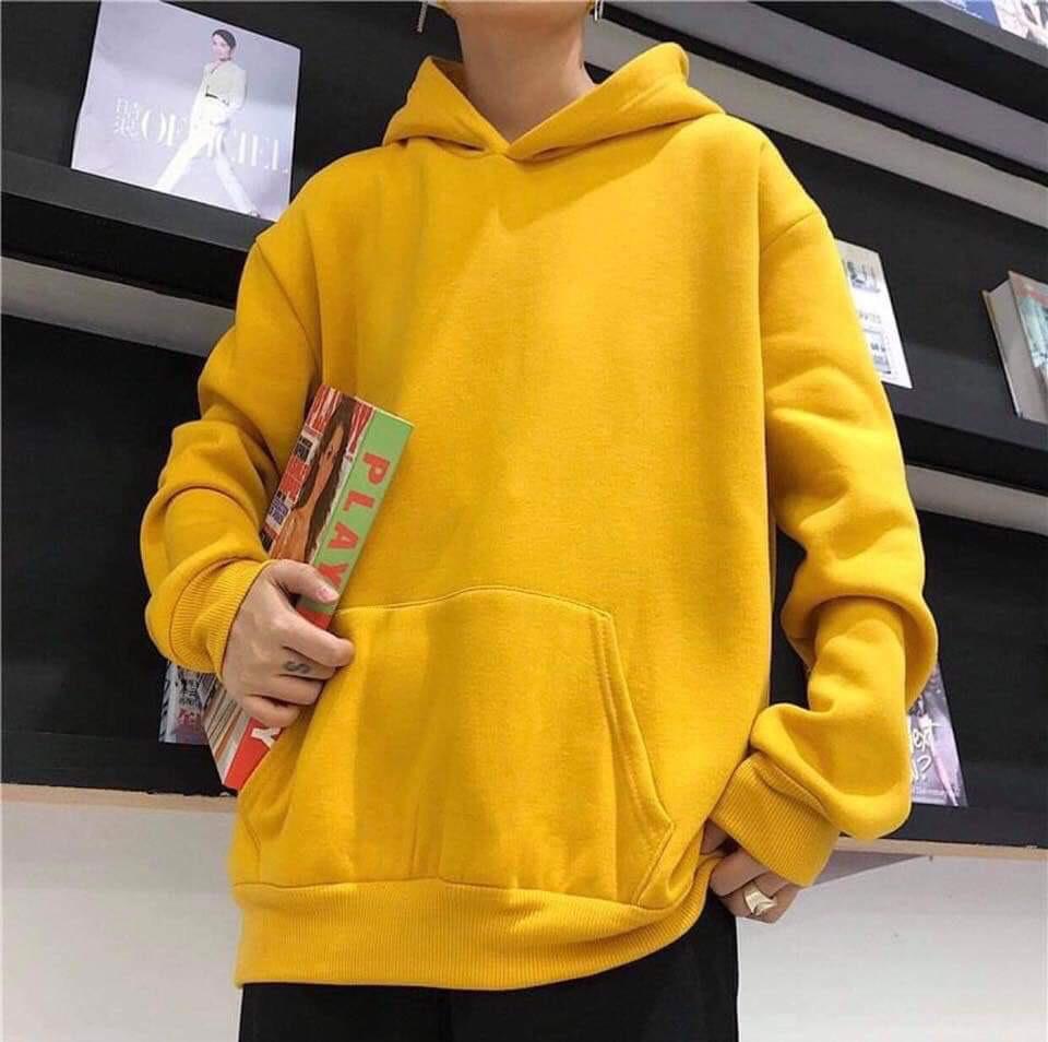áo hoodie trơn vàng