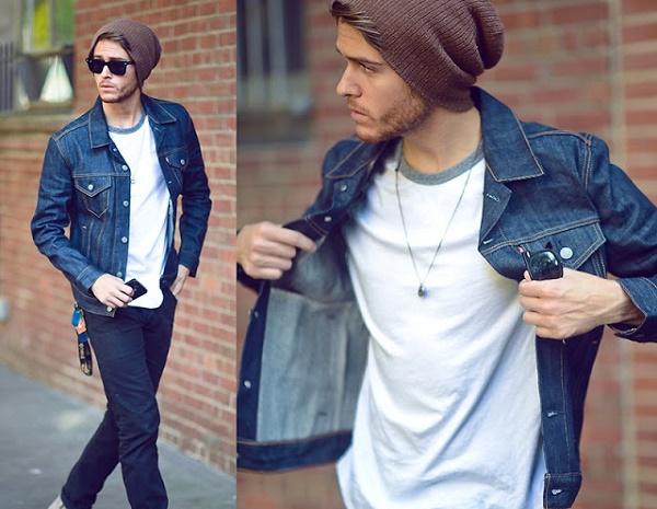 7 mẫu áo khoác nam đẹp-  áo khoác denim