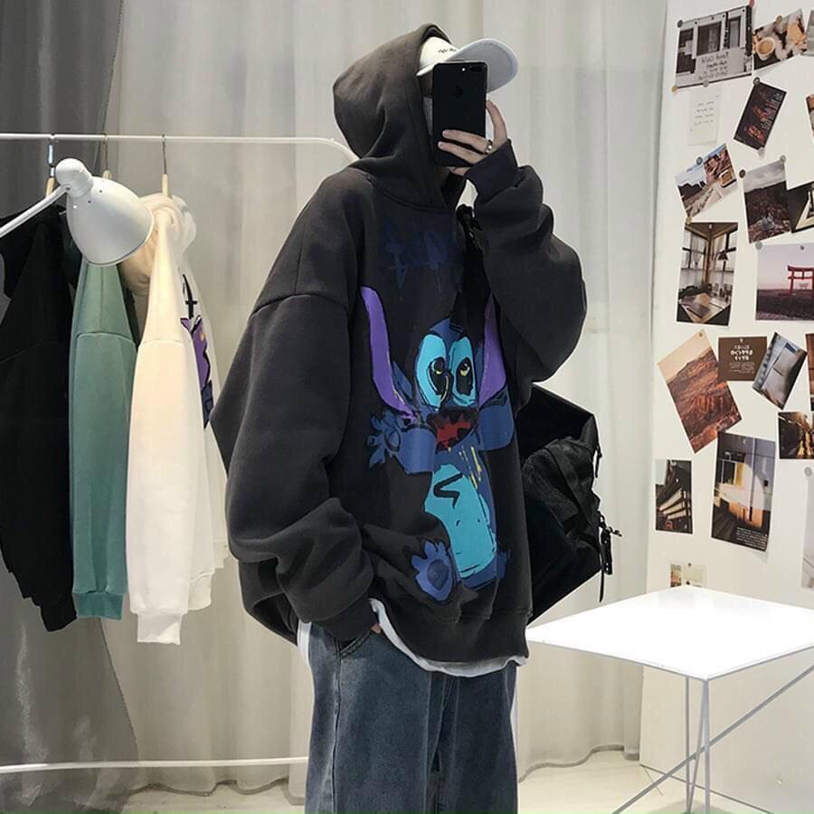 Áo hoodie in hoạt hình thời trang cá tính
