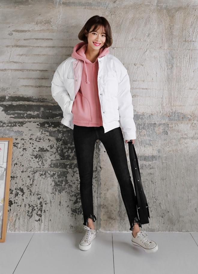 áo khoác dù phối áo hoodie
