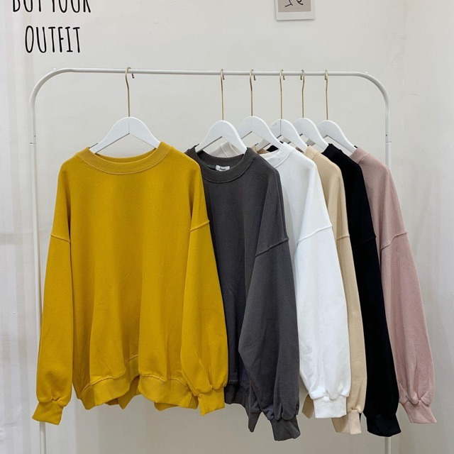 Áo sweater trơn