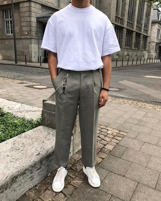 Quần ống rộng nam mặc với áo gì? Cách phối đồ chuẩn men hot trend 2021 14