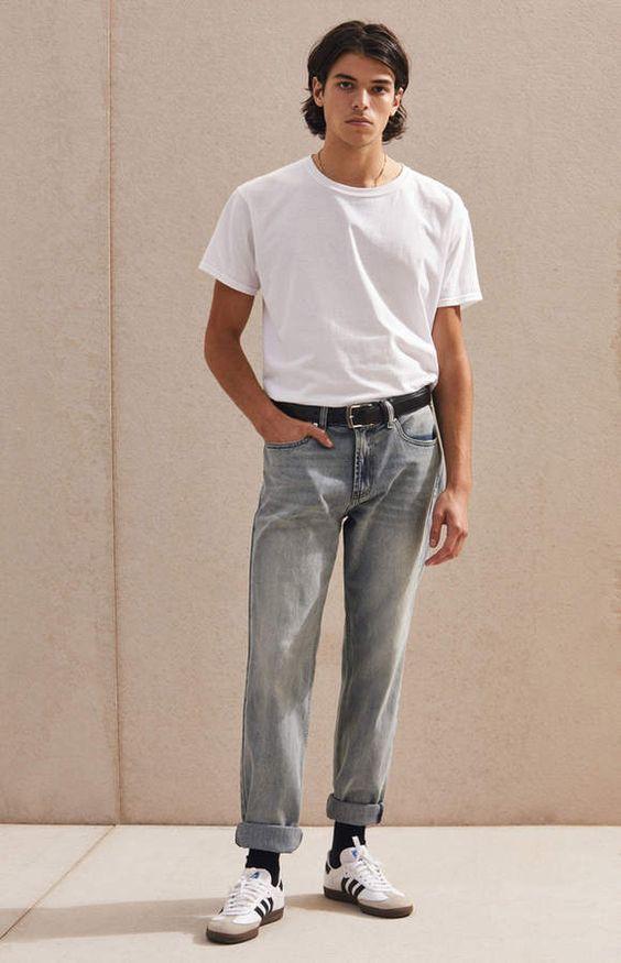 Quần ống rộng nam mặc với áo gì? Cách phối đồ chuẩn men hot trend 2021 15