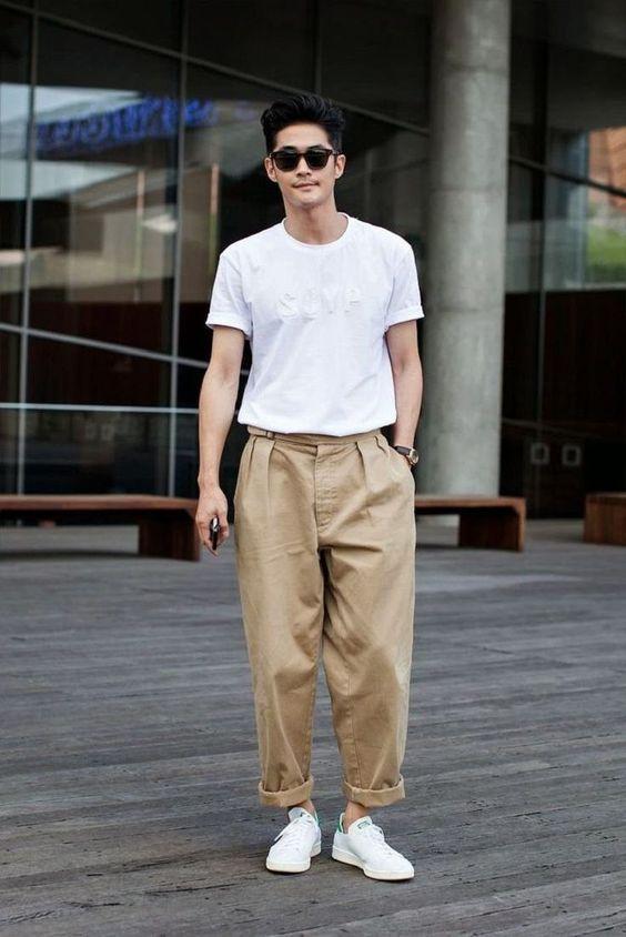 Quần ống rộng nam mặc với áo gì? Cách phối đồ chuẩn men hot trend 2021 16